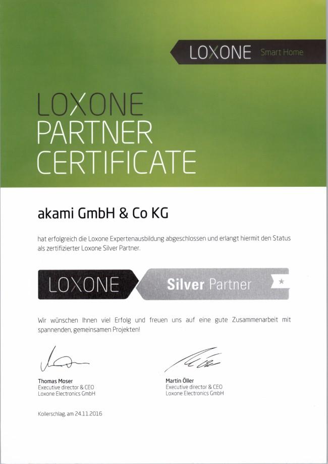 Loxone Partner Certificate