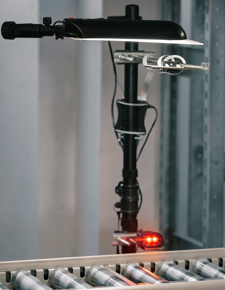LogVision KI an einer Förderstrecke bei ausgelöstem Scan